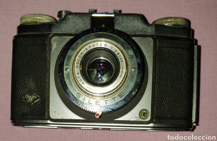 Cámara de fotos: Antigua cámara analógica fotográfica marca Agfa Color SILETTE. Con su funda - Foto 3 - 160874065