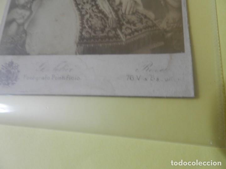 Cámara de fotos: FOTOGRAFIA DEL PAPA PIO X SOBRE CARTON ALBUMINA FOTOGRAFO G.FELICI. ROMA SIGLO XIX - Foto 2 - 168222180