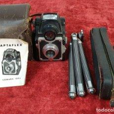 Cámara de fotos: CAMARA FOTOGRAFICA CAPTAFLEX JUVIART. INCLUYE TRIPODE. ESPAÑA. CIRCA 1940. . Lote 168552188