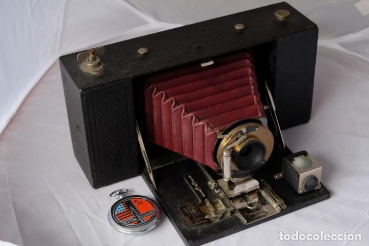Cámara de fotos: Kodak gran Formato.Fuelle Rojo. - Foto 6 - 168699492