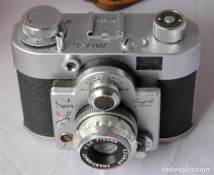 SAMOCA 35, SUPER EN CAJA, FUNDA CUERO. (Cámaras Fotográficas - Antiguas (hasta 1950))