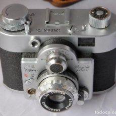 Cámara de fotos: SAMOCA 35, SUPER EN CAJA, FUNDA CUERO.. Lote 168699776