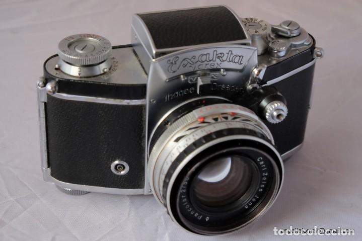 EXAKTA VAREX VX IMPECABLE, CON 50 CARL ZEISS PANCOLAR (Cámaras Fotográficas - Antiguas (hasta 1950))