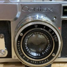 Cámara de fotos: CONTAX II CON OBJETIVO TESSAR 50MM 2.8 FABRICADA EN 1937. Lote 169149568