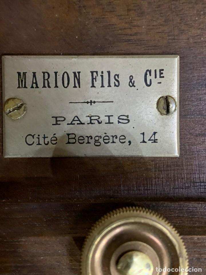 Cámara de fotos: MARION FILS CAMARA DE MADERA CON FUELLE 2 CHASIS 13x18 - Foto 6 - 169150528
