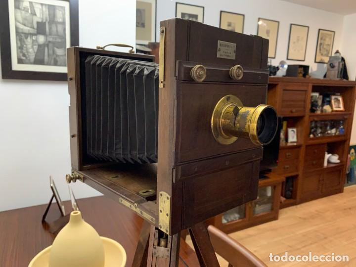 Cámara de fotos: MARION FILS CAMARA DE MADERA CON FUELLE 2 CHASIS 13x18 - Foto 12 - 169150528