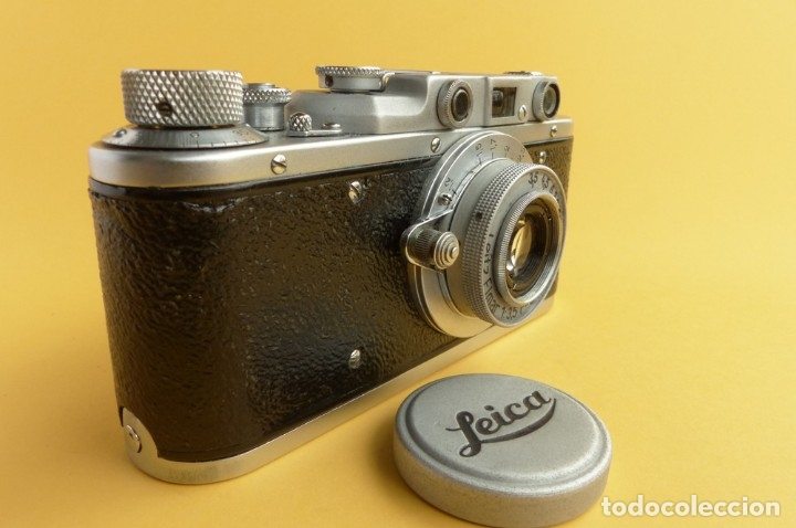 Cámara de fotos: Camara Copia Leica II - Fed Rotulada Leica.. Fin años 40. Probada con pelicula. Funda. - Foto 5 - 169061244