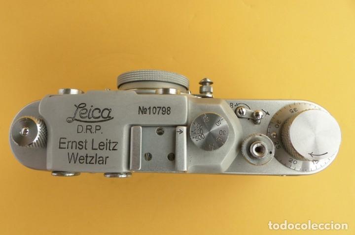 Cámara de fotos: Camara Copia Leica II - Fed Rotulada Leica.. Fin años 40. Probada con pelicula. Funda. - Foto 4 - 169061244