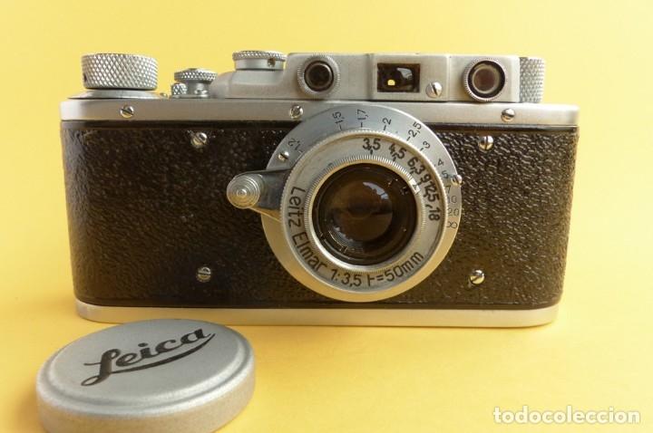 Cámara de fotos: Camara Copia Leica II - Fed Rotulada Leica.. Fin años 40. Probada con pelicula. Funda. - Foto 3 - 169061244