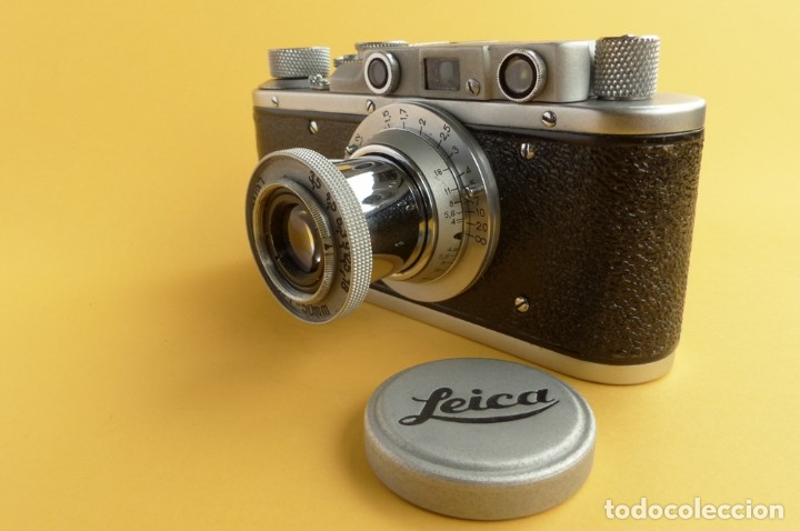 Cámara de fotos: Camara Copia Leica II - Fed Rotulada Leica.. Fin años 40. Probada con pelicula. Funda. - Foto 6 - 169061244
