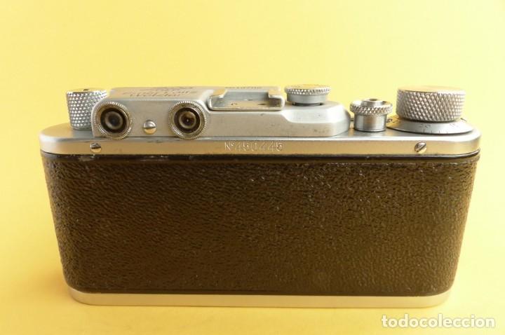 Cámara de fotos: Camara Copia Leica II - Fed Rotulada Leica.. Fin años 40. Probada con pelicula. Funda. - Foto 8 - 169061244