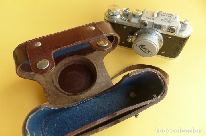 Cámara de fotos: Camara Copia Leica II - Fed Rotulada Leica.. Fin años 40. Probada con pelicula. Funda. - Foto 12 - 169061244