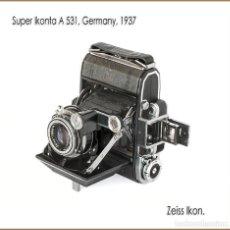 Cámara de fotos: ZEISS IKON SUPER IKONTA A 531. EXQUISITA TELEMÉTRICA ALEMANA DE 1937. MUY BUEN ESTADO.. Lote 169696732