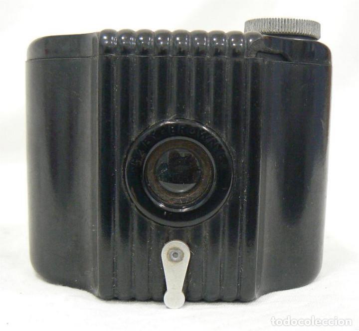 Cámara de fotos: Antigua cámara fotográfica Kodak Baby Brownie de baquelita USA 1934 - Foto 6 - 169917244