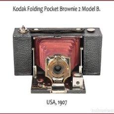 Câmaras de fotos: Nº 2 KODAK FOLDING POCKET BROWNIE (MODEL B) EXQUISITA CAMARA AMERICANA DE 1907. MUY BUEN ESTADO. Lote 170985230