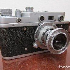 Cámara de fotos: ANTIGUA CÁMARA DE FOTOS FOTOGRÁFICA SOVIÉTICA RUSA URSS ALEMANA MODELO ZORKI TIPO LEICA II AÑO 1949. Lote 172012358