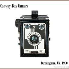 Cámara de fotos: CONWAY BOX CAMERA, MODELO SINCRONIZADO. FABRICADA EN 1950 EN BIRMINGHAM. MUY BUEN ESTADO.. Lote 172150963