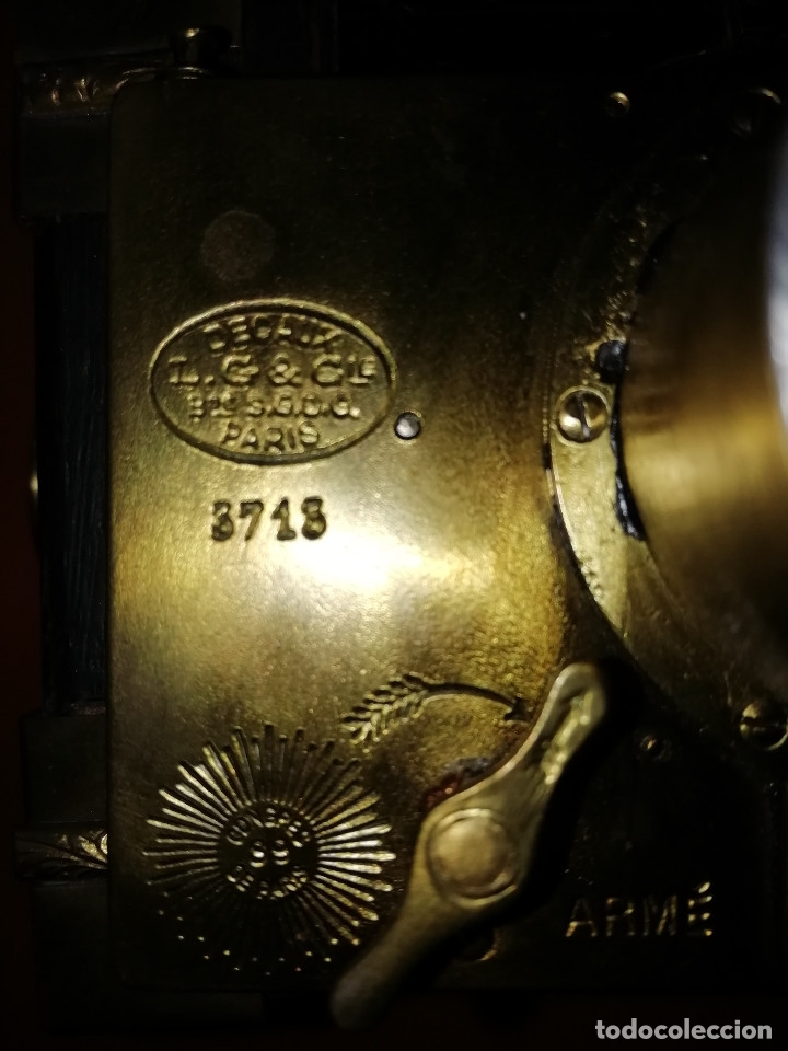 Cámara de fotos: CAMARA DE FOTOS ANTIGUA. CAJON DE PLACAS. GAUMONT. SPIDO. PRINCIPIOS DE SIGLO. SE ADMITEN OFERTAS. - Foto 8 - 172636107