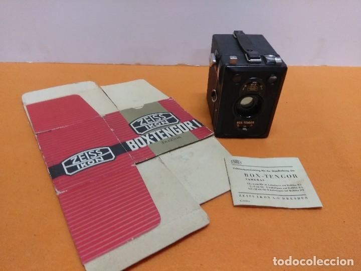 CÁMARA ZEISS IKON BOX TENGOR 1934. NUEVA CON CAJA Y LIBRO (Cámaras Fotográficas - Antiguas (hasta 1950))