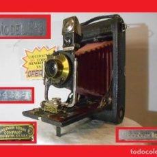 Cámara de fotos: ENORME D MADERA Y FUELLE ROJO...KODAK 3A FOLDING POCKET MODEL B-3..USA 1903 ÓPTIMO ESTADO ESTÉTICO. Lote 144354874