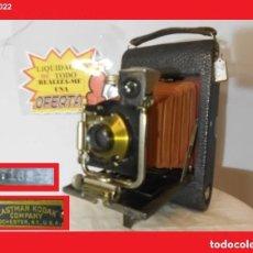 Cámara de fotos: ENORME D MADERA Y FUELLE ROJO...KODAK 3 FOLDING POCKET MODEL E-4..USA 1910 EN ÓPTIMO ESTADO ESTÉTICO. Lote 144294710