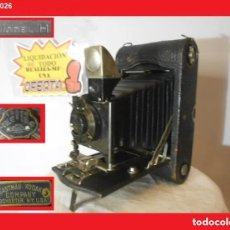 Cámara de fotos: CENTENARIA ENORME Y DE MADERA ..KODAK 3-A FOLDING POCKET MODEL H..USA 1904 ÓPTIMO ESTADO ESTÉTICO. Lote 144364794