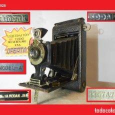 Cámara de fotos: CÁMARA DE MADERA KODAK 1A, AUTOGRAPHIC JUNIOR MODEL A. (1910 ) EN ÓPTIMO ESTADO ESTÉTICO. Lote 144382410