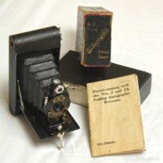 Cámara de fotos: KODAK AUTOGRAPHIC BROWNIE, AÑOS 1920 ¡CAJA ORIGINAL!. Lote 174463445