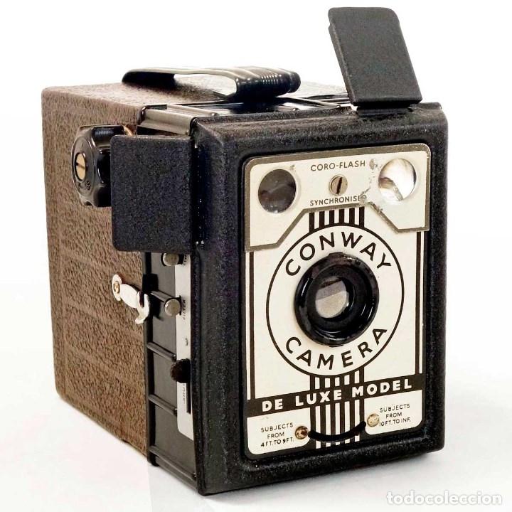 CÁMARA CONWAY RARA VERSIÓN CORO FLASH SYNCHRONISED. FUNCIONANDO (Cámaras Fotográficas - Antiguas (hasta 1950))