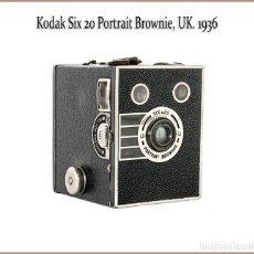Cámara de fotos: KODAK SIX 20 PORTRAIT BROWNIE. ELEGANTE Y ATRACTIVA CAMARA DE CAJON. FABRICADA EN EL REINO UNIDO.. Lote 176516504