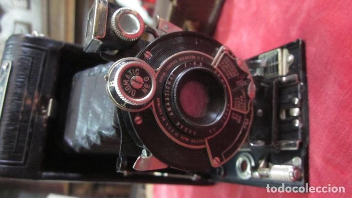Cámara de fotos: Antigua cámara fotográfica de fuelle plegable Kodak - Foto 4 - 177290217