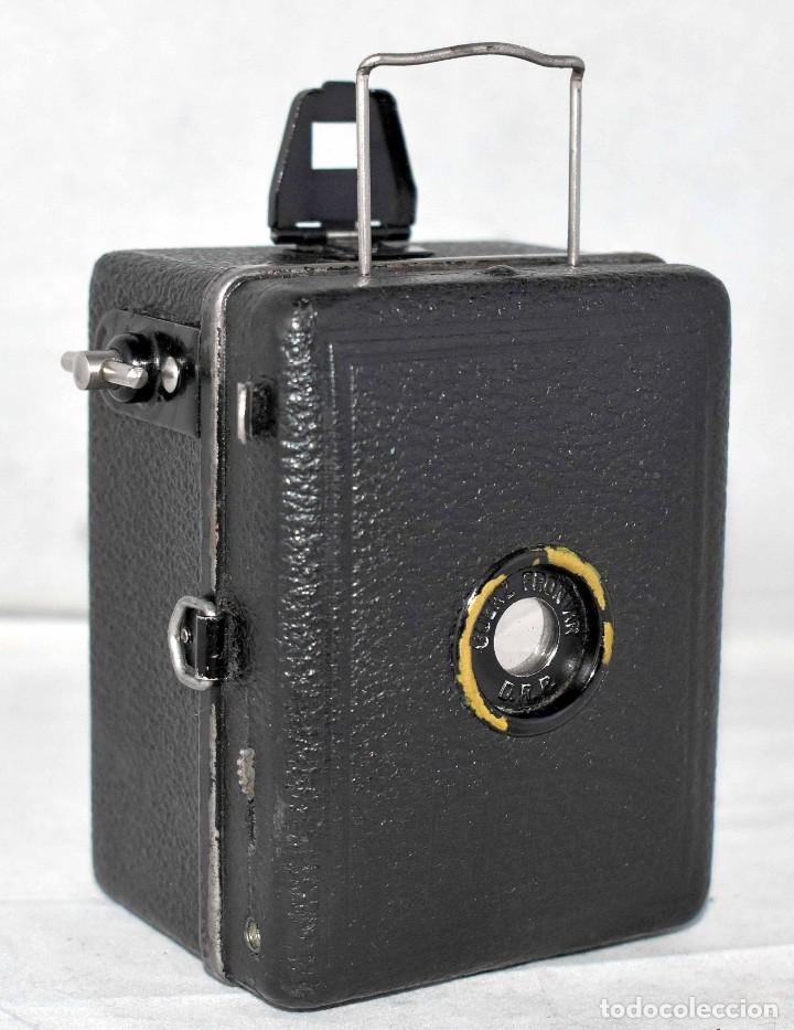 Cámara de fotos: PRECIOSA..BOX MINIATURA..ZEISS IKON BABY BOX 54/18+FUNDA..ALEMANIA 1930.. BUEN ESTADO..FUNCIONA. - Foto 3 - 177506612