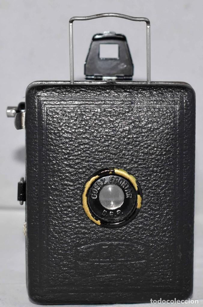 Cámara de fotos: PRECIOSA..BOX MINIATURA..ZEISS IKON BABY BOX 54/18+FUNDA..ALEMANIA 1930.. BUEN ESTADO..FUNCIONA. - Foto 4 - 177506612