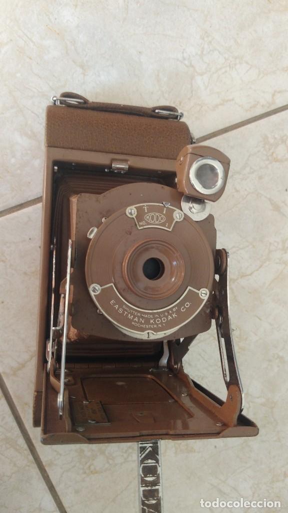 Cámara de fotos: ANTIGUA CAMARA DE fotos FUELLE KODAK Nº1 EASTMAN AÑOS 1910/20 numero capicua, COLOR MARRON MUY rara - Foto 25 - 177770579