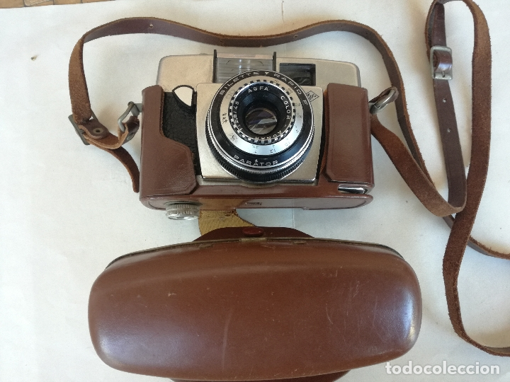 Cámara de fotos: ANTIGUA CAMARA DE 35 mm AGFA PARATOR COLOR AGNAR MODELO SILETTE RAPID - CON FUNDA ORIGINAL - Foto 13 - 178070707