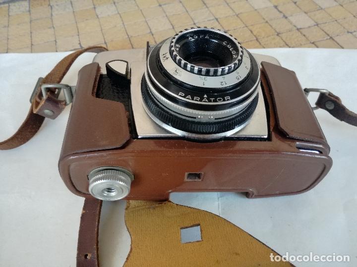 Cámara de fotos: ANTIGUA CAMARA DE 35 mm AGFA PARATOR COLOR AGNAR MODELO SILETTE RAPID - CON FUNDA ORIGINAL - Foto 15 - 178070707