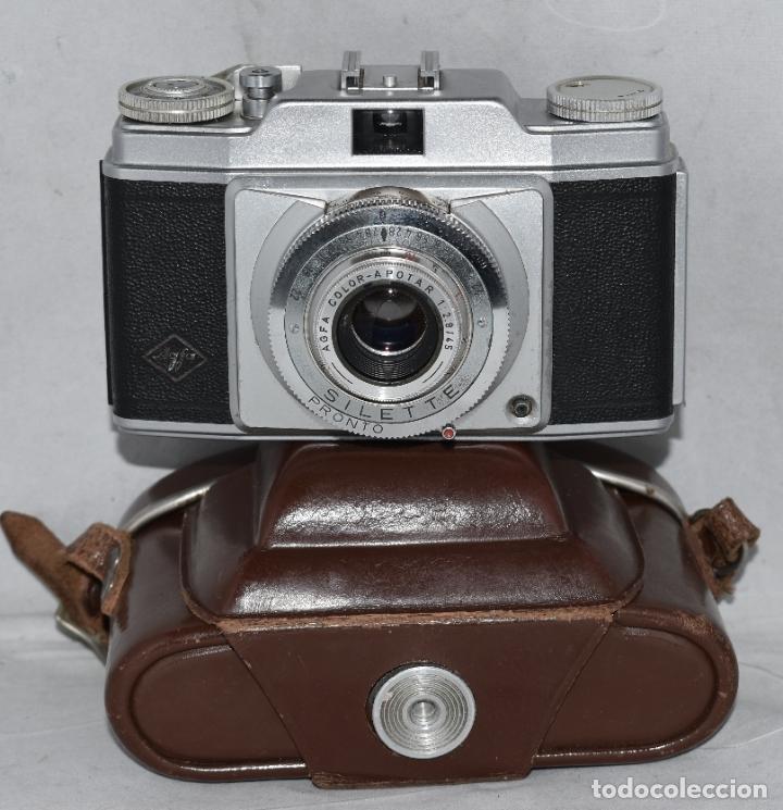 Cámara de fotos: CLASICA, 35 mm. CALIDAD..AGFA SILETTE, PRIMER MODELO TIPO 1..ALEMANIA 1953..CON FUNDA..FUNCIONA.GOOD - Foto 2 - 178345993