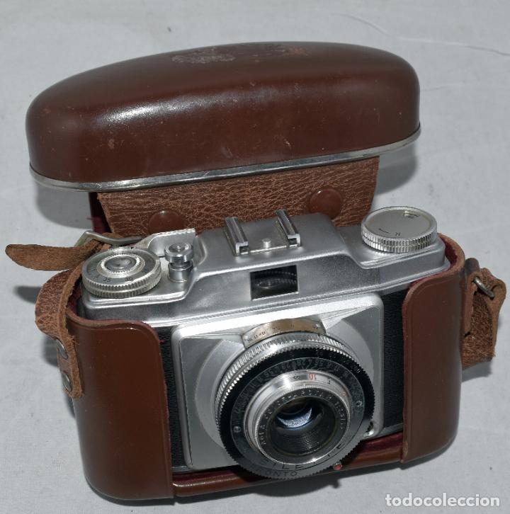 Cámara de fotos: CLASICA, 35 mm. CALIDAD..AGFA SILETTE, PRIMER MODELO TIPO 1..ALEMANIA 1953..CON FUNDA..FUNCIONA.GOOD - Foto 3 - 178345993