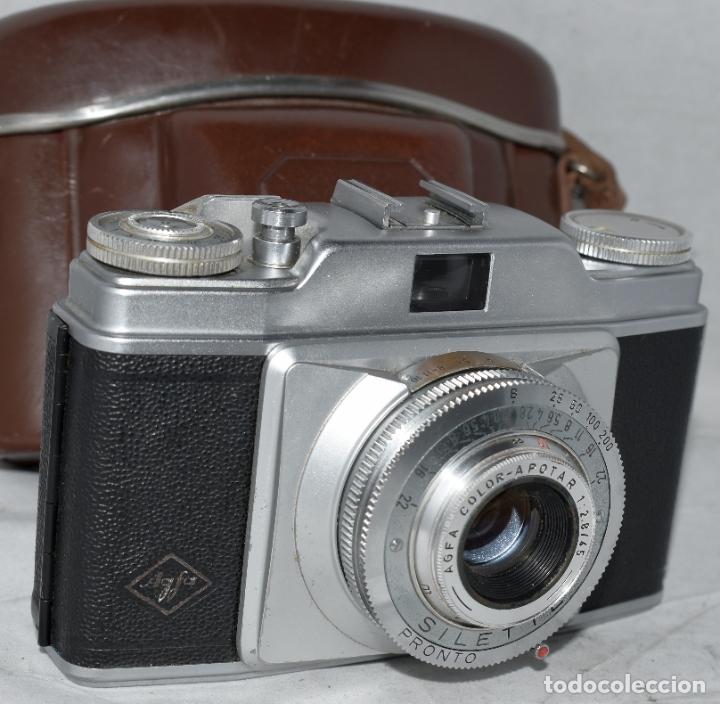 Cámara de fotos: CLASICA, 35 mm. CALIDAD..AGFA SILETTE, PRIMER MODELO TIPO 1..ALEMANIA 1953..CON FUNDA..FUNCIONA.GOOD - Foto 4 - 178345993