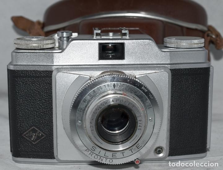 Cámara de fotos: CLASICA, 35 mm. CALIDAD..AGFA SILETTE, PRIMER MODELO TIPO 1..ALEMANIA 1953..CON FUNDA..FUNCIONA.GOOD - Foto 5 - 178345993