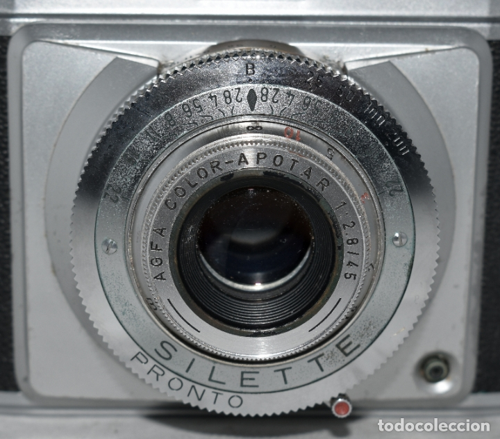 Cámara de fotos: CLASICA, 35 mm. CALIDAD..AGFA SILETTE, PRIMER MODELO TIPO 1..ALEMANIA 1953..CON FUNDA..FUNCIONA.GOOD - Foto 6 - 178345993