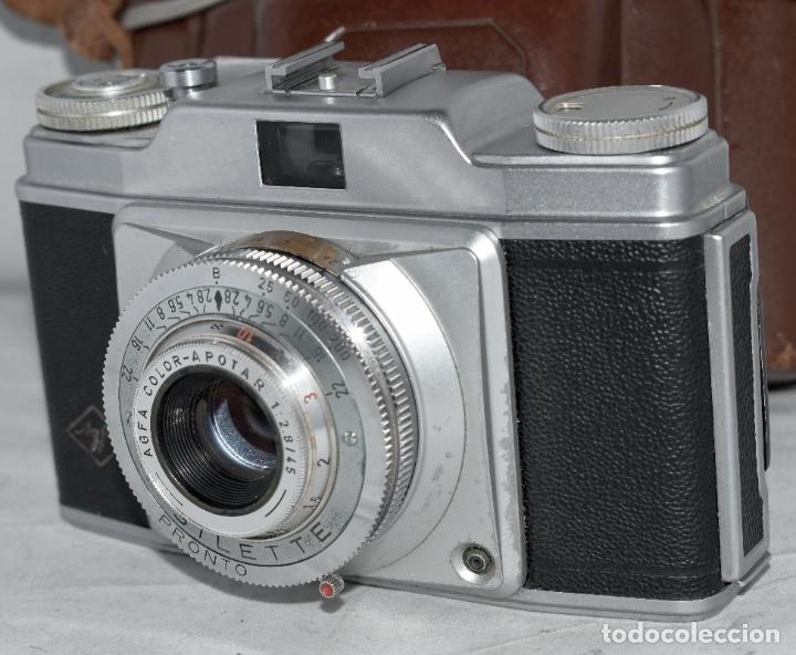 Cámara de fotos: CLASICA, 35 mm. CALIDAD..AGFA SILETTE, PRIMER MODELO TIPO 1..ALEMANIA 1953..CON FUNDA..FUNCIONA.GOOD - Foto 7 - 178345993