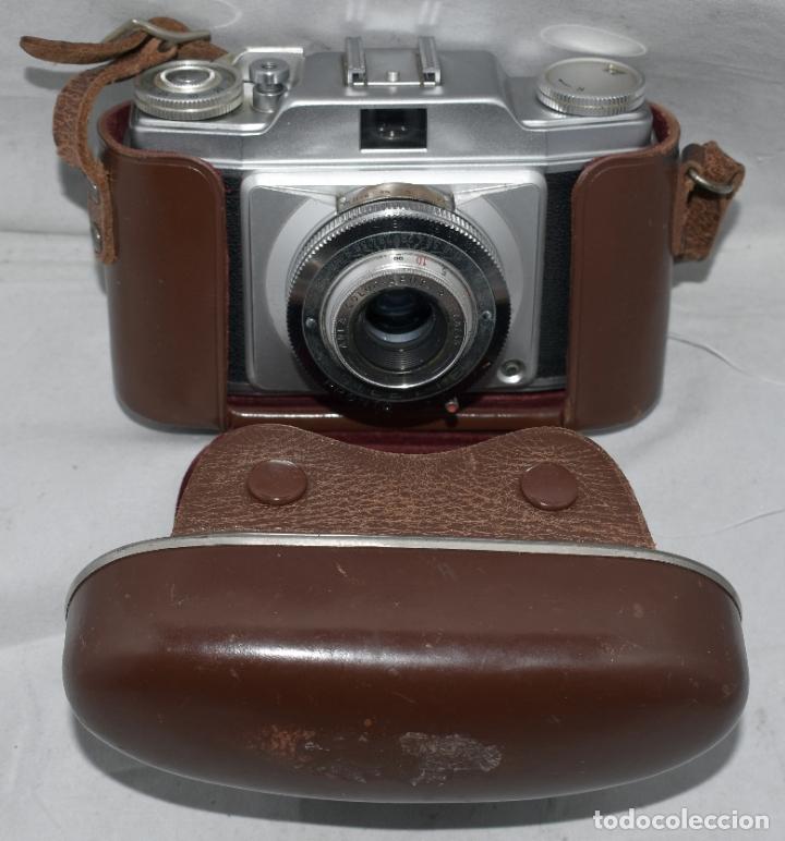Cámara de fotos: CLASICA, 35 mm. CALIDAD..AGFA SILETTE, PRIMER MODELO TIPO 1..ALEMANIA 1953..CON FUNDA..FUNCIONA.GOOD - Foto 9 - 178345993
