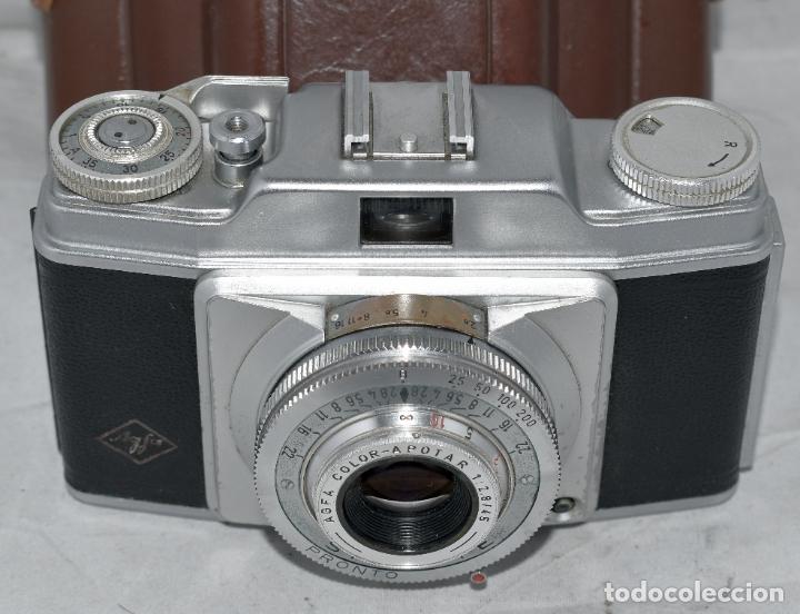 Cámara de fotos: CLASICA, 35 mm. CALIDAD..AGFA SILETTE, PRIMER MODELO TIPO 1..ALEMANIA 1953..CON FUNDA..FUNCIONA.GOOD - Foto 10 - 178345993