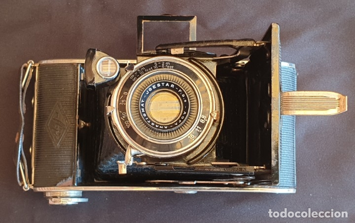 Cámara de fotos: Cámara de fuelle Agfa Mod. Billy Record, con su funda de piel - Foto 4 - 178858943