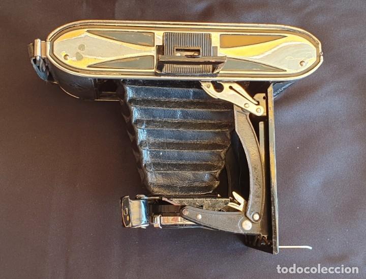 Cámara de fotos: Cámara de fuelle Agfa Mod. Billy Record, con su funda de piel - Foto 5 - 178858943