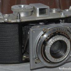 Cámara de fotos: ESPECIAL RAREZA...ALEMANIA III REICH (1938)..AGFA KARAT 3,5 SOLINAR+FUNDA.. BUEN ESTADO..FUNCIONA. Lote 178970662