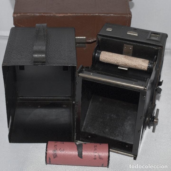 Cámara de fotos: CALIDAD.ZEISS IKON BOX TENGOR 54/2+FUNDA+FILM.PRIMER MODELO.ALEMANIA 1926.MUY BUEN ESTADO.FUNCIONA - Foto 3 - 180094656