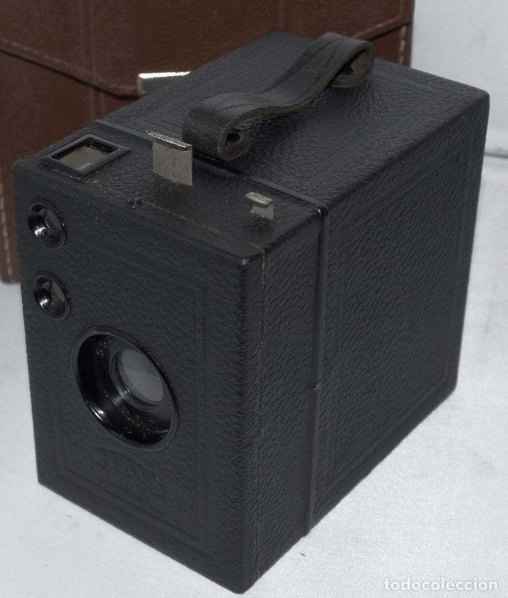 Cámara de fotos: CALIDAD.ZEISS IKON BOX TENGOR 54/2+FUNDA+FILM.PRIMER MODELO.ALEMANIA 1926.MUY BUEN ESTADO.FUNCIONA - Foto 6 - 180094656