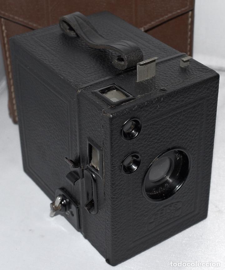 Cámara de fotos: CALIDAD.ZEISS IKON BOX TENGOR 54/2+FUNDA+FILM.PRIMER MODELO.ALEMANIA 1926.MUY BUEN ESTADO.FUNCIONA - Foto 7 - 180094656